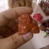 刚刚收到战国红玛瑙小狮子