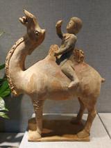丝绸之路彩绘骆驼俑