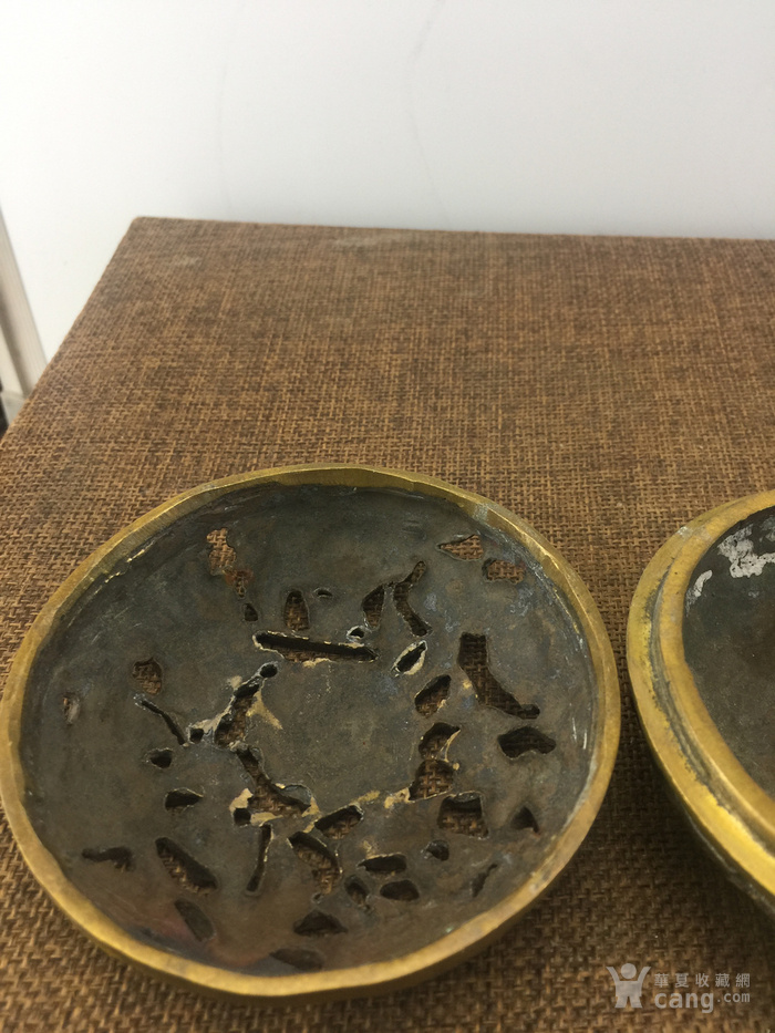 花卉铜熏香炉A3599图3
