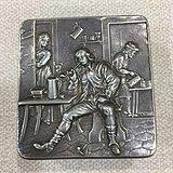 清代外国纯银烟盒