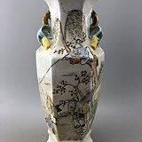粉彩老人瓷瓶A5620