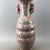 双耳开片瓷瓶A4936