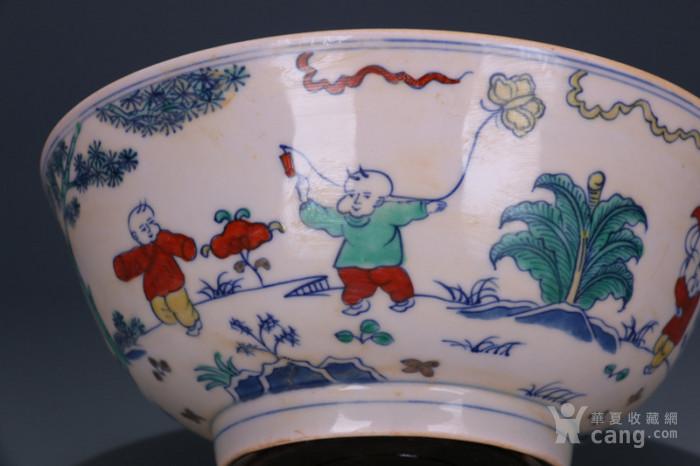 明成化斗彩童子纹碗 古董古玩古瓷器