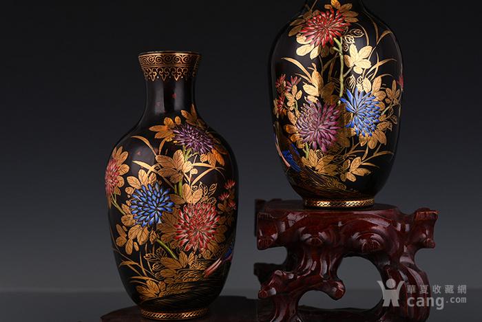 琉璃珐琅彩描金花鸟瓶