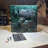 雅安绿石雕摆件休牛散马