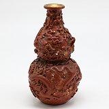 民国  仿雕漆盘龙活眼珠葫芦瓶