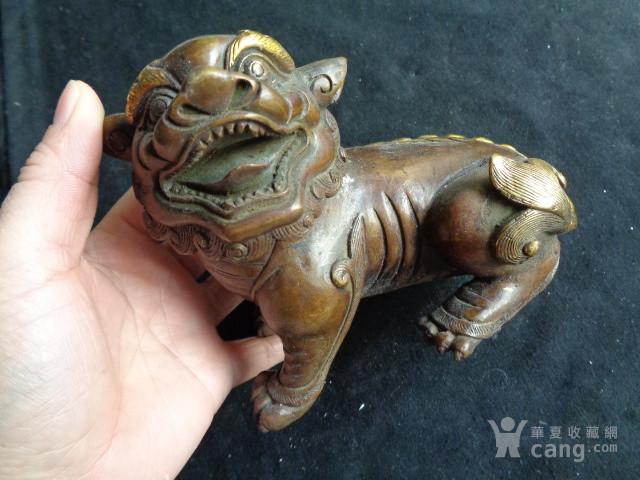 民国时期铜鎏金小狮子