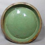 清代大号绿釉月盘