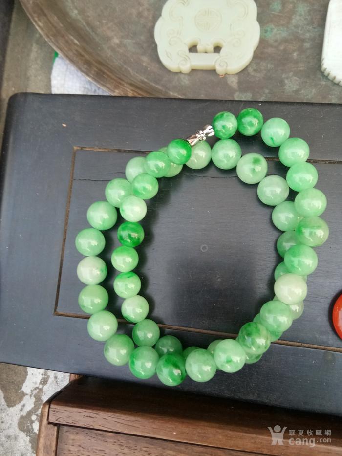 翡翠满绿塔珠
