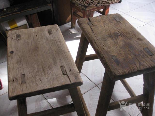 老木凳子 老家具 实木凳子2把