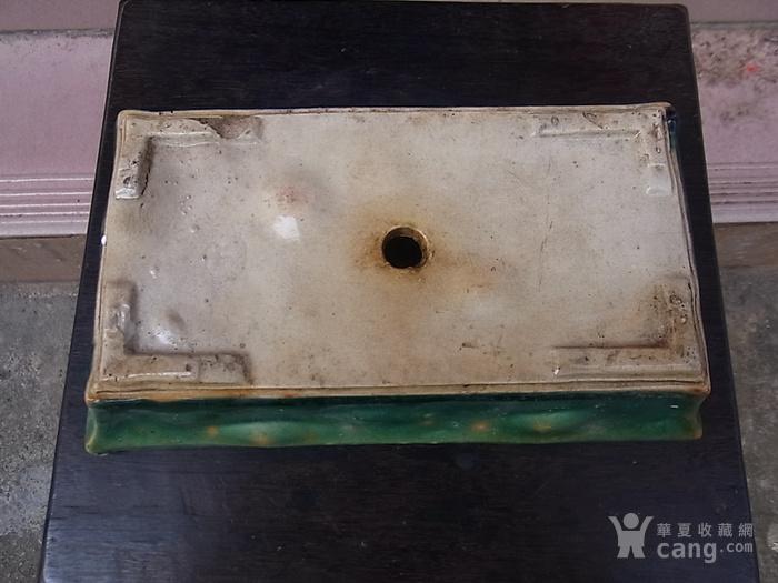 一个文革老石湾绿釉长方花盆 特价68元不议价