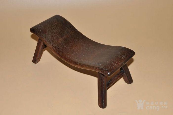 清代海南黄花梨老物件木料枕头凳子花纹