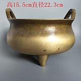 清代传世老黄铜香炉