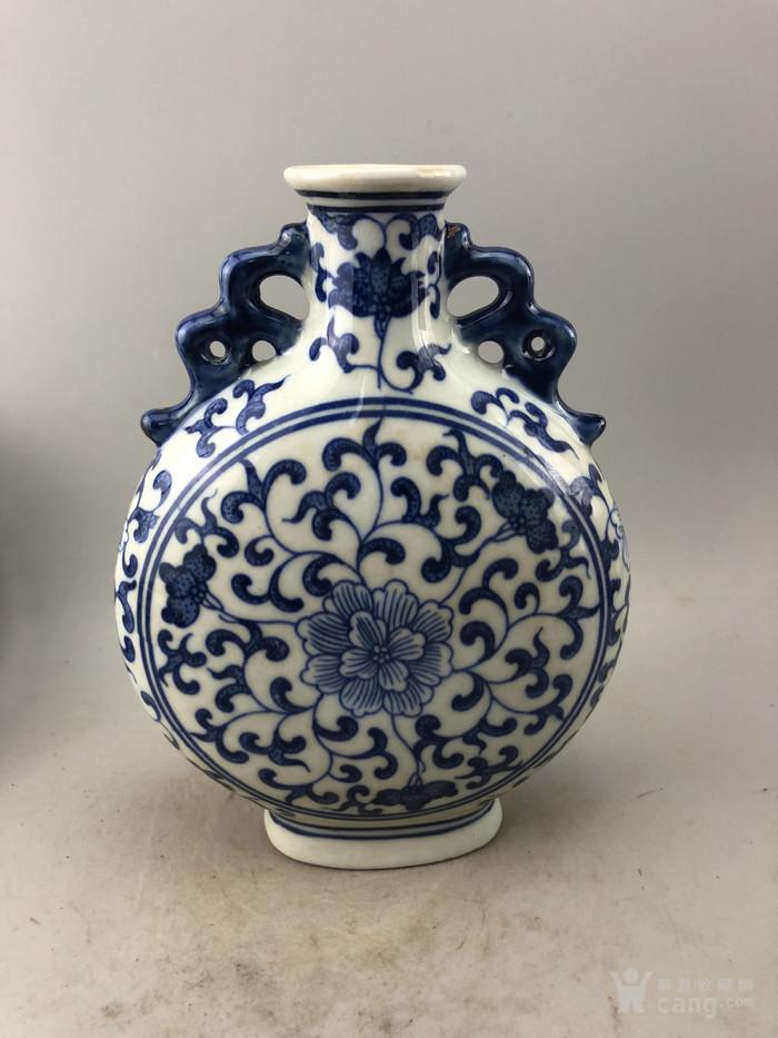 青花花卉瓷瓶A6294图2