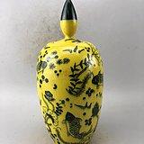 青花鲤鱼瓷罐A6467