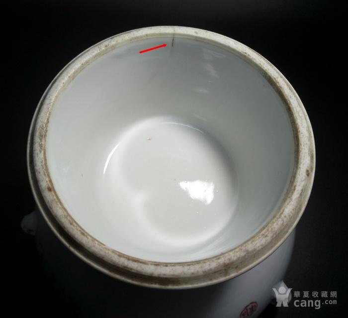 晚清御窑厂画师焦佩兰花鸟暖锅
