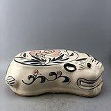花卉虎头瓷枕A6176