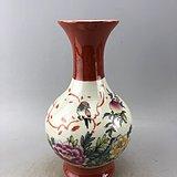 粉彩花鸟瓷瓶A6158