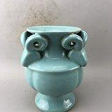 蓝釉尊瓷瓶A6429