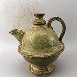 黄釉素面瓷壶A6430