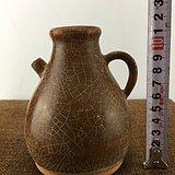 酱釉开片瓷壶A1563