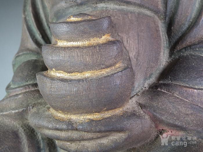 木胎鎏金财神大坐像图6