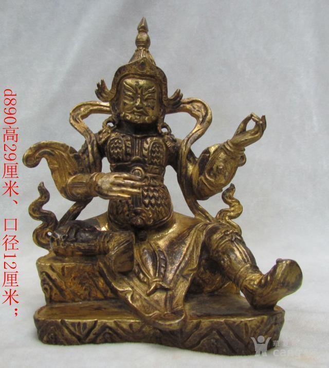 清代鎏金佛像