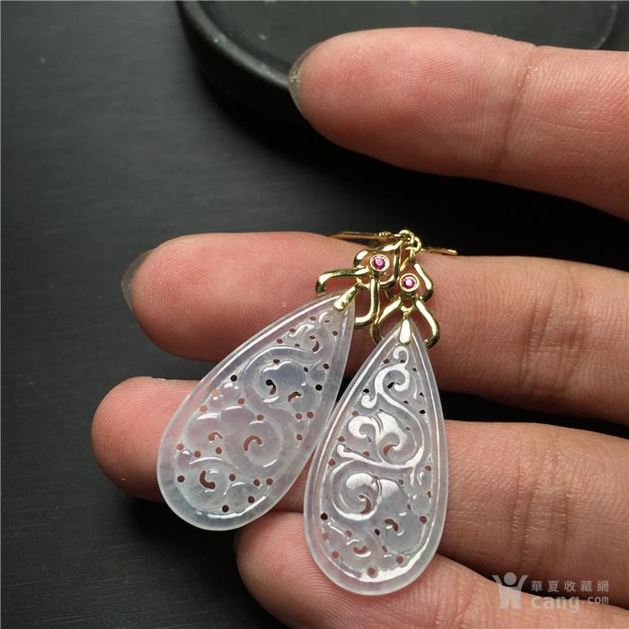 x560*回流18K金伴红宝石镶冰种翡翠缠枝水滴形耳坠