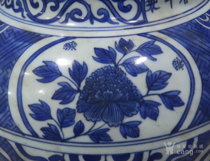 青花花纹罐
