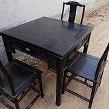 古董老家具小叶紫檀多用途方桌棋桌
