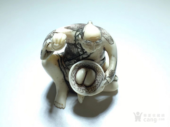 名家雕刻 珍贵 人物 把件 手工雕刻图1
