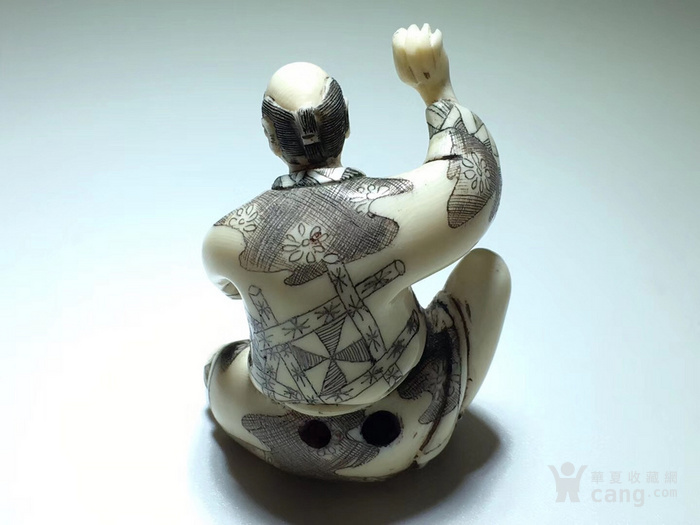 名家雕刻 珍贵 人物 把件 手工雕刻图4