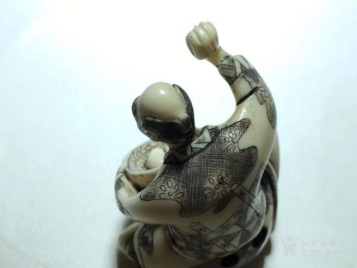 名家雕刻 珍贵 人物 把件 手工雕刻图5