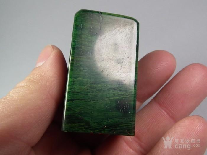 老绿色寿山石大印章图4