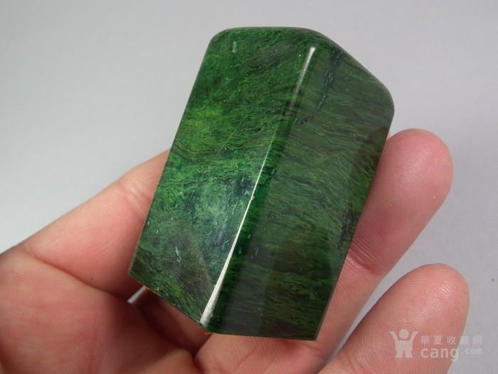 老绿色寿山石大印章图6