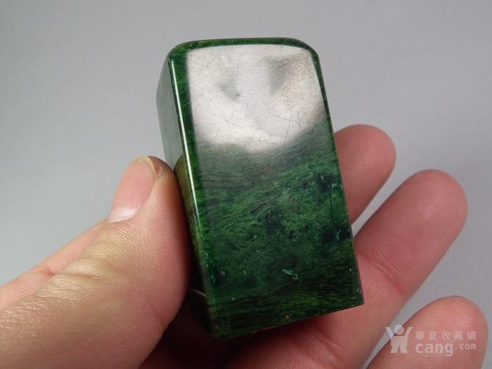 老绿色寿山石大印章图5
