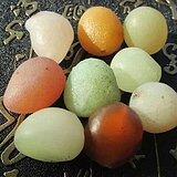 有些年头 天然 戈壁七彩 糖球玛瑙 个个规整 有孔
