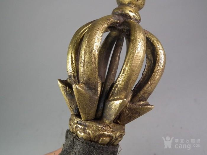 藏传佛教精铜八瓣金刚杵图8