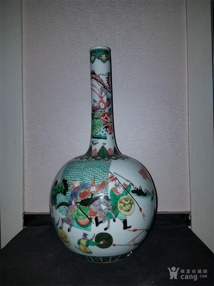 五彩人物故事天球瓶