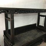 清代铁力木 精品大案台灵芝纹长桌