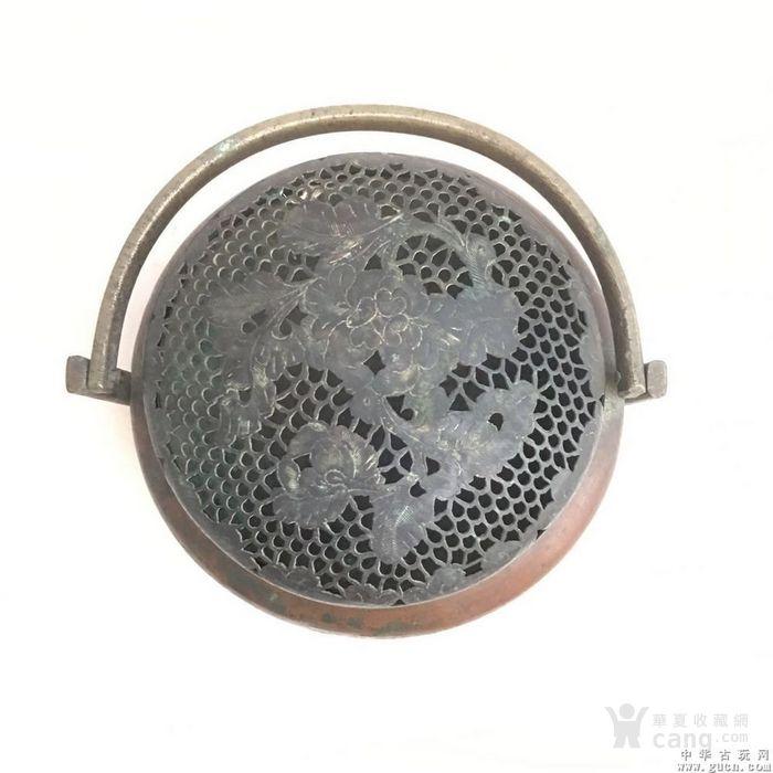 清朝精美铜手炉