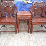 古玩收藏老货花梨太师椅一套