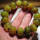 天然 黄绿相间 戈壁玛瑙 颗颗 水润至极 算盘珠
