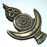 清 藏传 日月星 铜质托甲 包浆老厚 手工制作