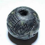 清 铁陨石 手工雕刻 鹭鸶 珠子 手工雕刻 包浆老厚