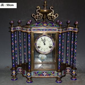 铜景泰蓝西洋钟