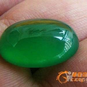 阳绿蛋面1.6X1.2X0.7厘米