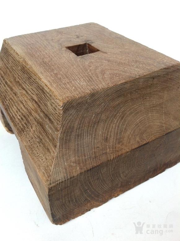 独木整雕 清代红榉木斗底座 古建筑构件