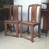 苏作清代老榉木壶门牙板文旦椅靠背椅一对