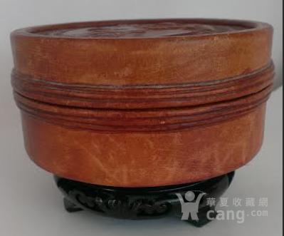 老真*浮雕棕色手工制作圆盒